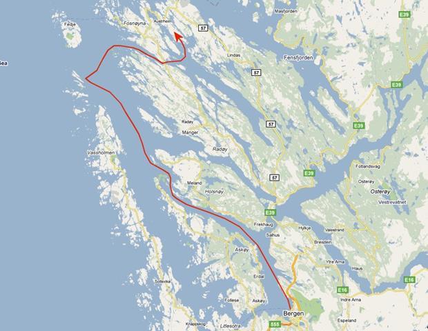 traject Bergen - Bakkavagen
