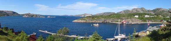 Een panorama vanaf de berg